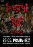 INCANTATION, DEFEATED SANITY, SKINNED