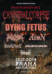 CANNIBAL CORPSE, DYING FETUS, REVOCATION, AEON, GOATWHORE, MALEVOLENCE, FALLUJAH