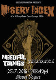 MISERY INDEX, LEFUTRAY, PALM, NEEDFUL THINGS