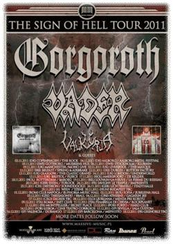 Gorgoroth, Vader - tour poster